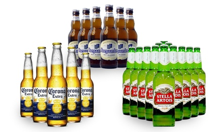 From $99 for a Set of 48 Corona, Hoegaarden, Budweiser, and More (worth up to 240)