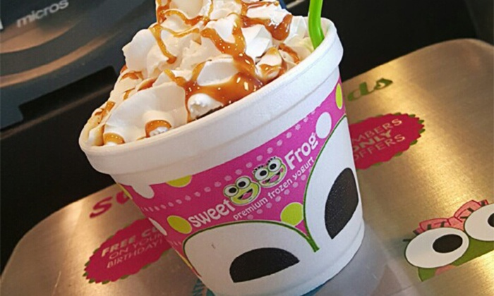 Sweet Frog - Catonsville - Sweet Frog: $11 for Four Groupons, Each Good for $5 Worth of Frozen Yogurt at Sweet Frog ($20 Value)