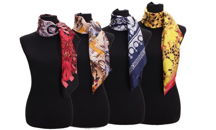 b19ef18f47 Versace Women's Silk Scarfs   Groupon