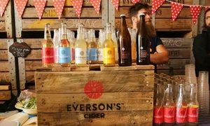 Everson's Cider Food/Beverages: Everson's Cider Tasting Experience from R199 for Two at Everson's Cider Food and Beverages