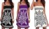 1x oder 2x Bandeau-Kleid im Boho-Design in Schwarz, Weiß oder Lila