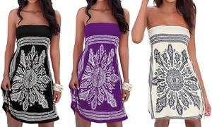 (Mode)  Robe été bustier imprimée bandana -55% réduction