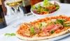 Pizza oder Pasta mit Antipasti