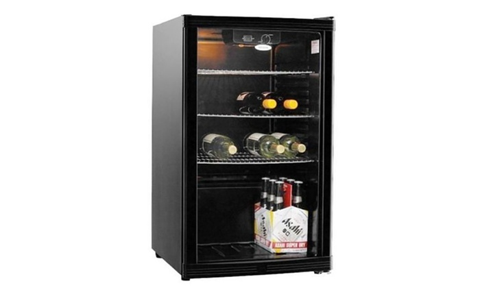 Glass Door Bar Fridge 115l Groupon