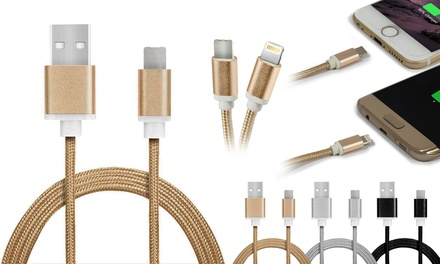 1 o 2 cables de carga Dual MicroUSB/iPhone
