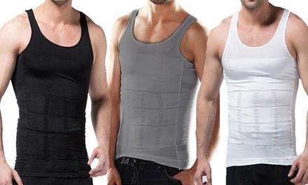 1 o 2 camisetas de moldeado de cuerpo para hombre