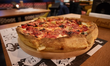 Starter, Pizza and Pizza Crust Dip Lunch for One or Two at Japes