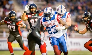 Club de Football les Alouettes de Montréal: 2 or 4 Tickets for the Alouettes Game at Percival Molson Memorial Stadium on July 6, 2017 (Up to 50% Off)