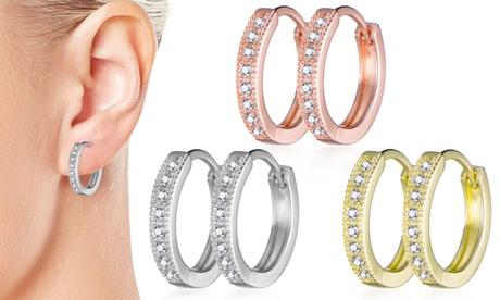 1, 2 o 3 pares de pendientes de aro Philip Jones con cristales de Swarovski®