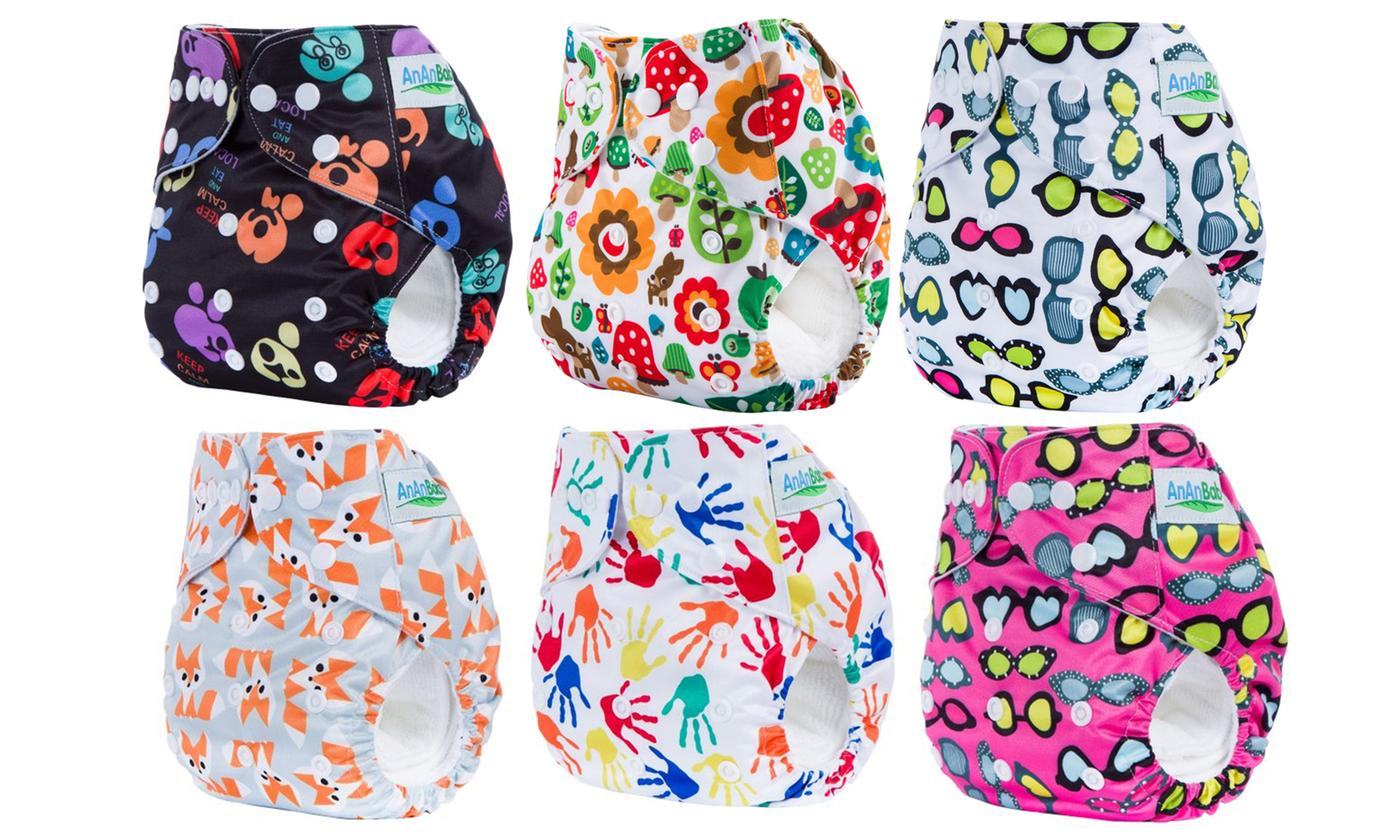 One, Two, Three or Five Reusable Cloth Baby Diaper