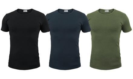 3 t-shirt Liabel cotone: Blu / M