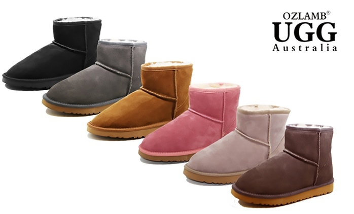 $59 for a Pair of Ozlamb UGG Unisex Premium Ankle Boots in a Range of Colours and Sizes (Don't Pay $199)