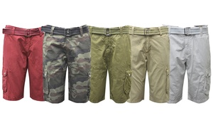 "Men's Belted Zig Zag 12.5"" Cargo Shorts"
