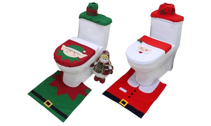 wc sitz bezug im weihnachts motiv groupon. Black Bedroom Furniture Sets. Home Design Ideas