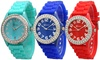 Women's Crystal-Embellished Silicone Watch
