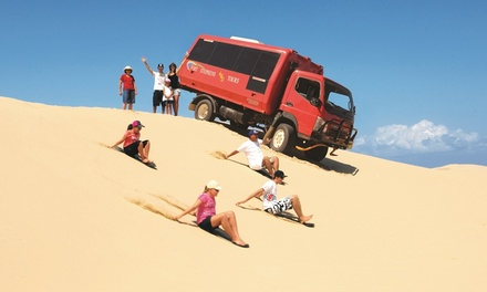 Beach and Dune Tour with Sandboarding for One ($26), Two ($49) or Four People ($98) with Port Stephens 4WD Tours