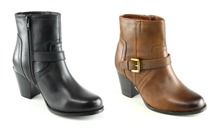 Groupon Goods Global GmbH: Manoukian Rose Women's Ankle Boots With Free Delivery
