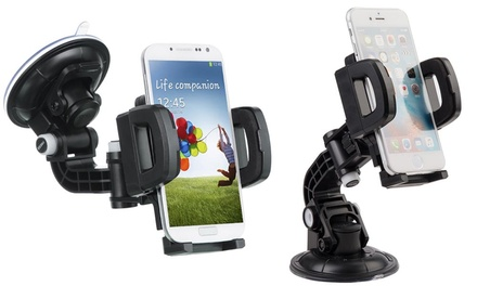 WalvoDesign Mobile Phone Car Mount with Suction Cup and Air Vent Clip