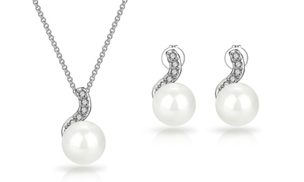 One or Two Philip Jones Spiral Pearl Sets with Crystals from Swarovski®
