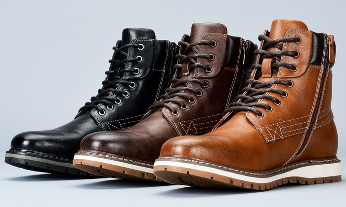 Harrison Men's Round-Toe Casual Boots