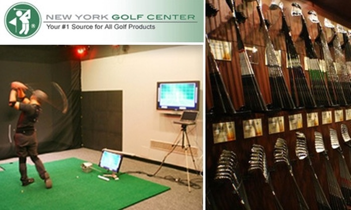 New York Golf Center - Garment District: $50 for Half-Hour Motion Golf Swing Analysis with CD of Results Plus a $10 Gift Card at New York Golf Center ($135 Total Value)