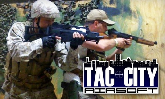 Tac City Airsoft - El Monte City: $28 for All-Day Admission, Equipment, and a Bag of BBs at Tac City Airsoft