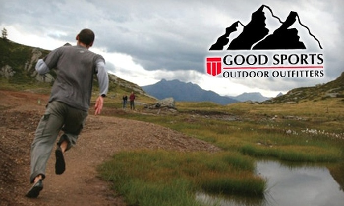 Good Sports Outdoor Outfitters - Northwest Side: $25 for $50 or $75 for $150 Worth of Outdoor Gear at Good Sports Outdoor Outfitters