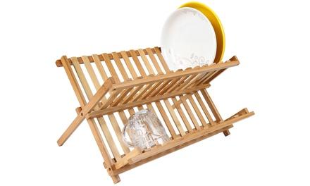 Escurridor de bambú para ropa por 14,99 € (28% de descuento)