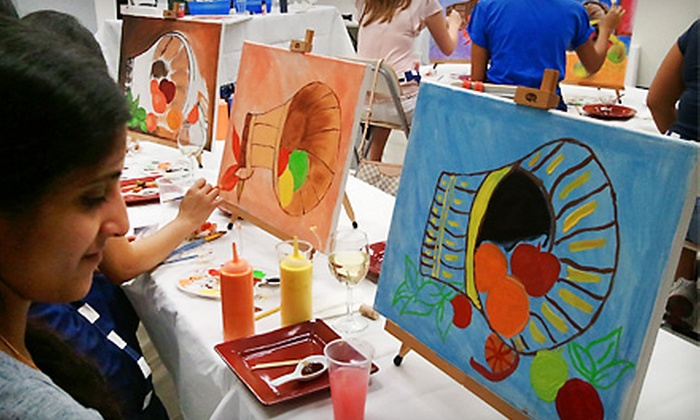 Art by the Glazz - Multiple Locations: $50 for a Three-Hour Adult Painting Class for Two at Art by the Glazz ($100 Value)