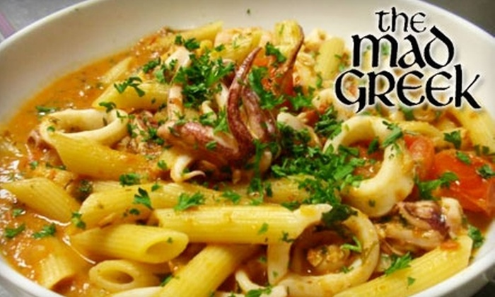 The Mad Greek - University: $10 for $20 Worth of Mediterranean Fare for Lunch or $15 for $30 Worth for Dinner at The Mad Greek