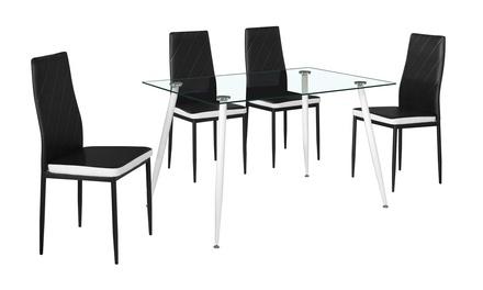 Set tavolo con 4 sedie Sebra