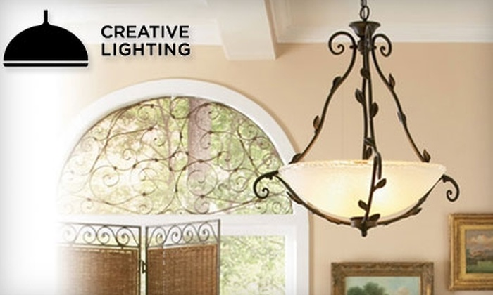 Creative Lighting - Merriam Park East: $25 for $75 Towards Lighting Fixtures, Lamps, Mirrors, Fans, and More at Creative Lighting