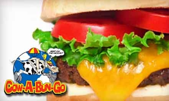 Cow-A-Bun-Go - Montgomery: $5 for $10 Worth of Delivered Burgers, Steaks, and More From Cow-A-Bun-Go