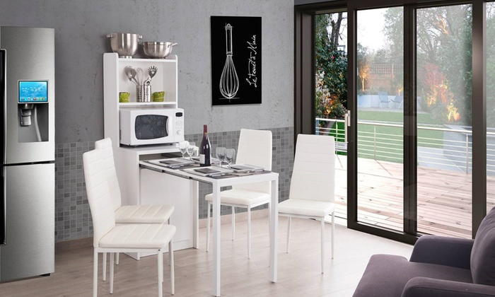 console de rangement kolto extensible groupon shopping. Black Bedroom Furniture Sets. Home Design Ideas