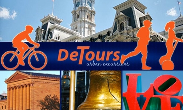 DeTours Touring - Center City East: $39 for a Segway, Biking, or Running Tour of Philadelphia from DeTours Touring (Up to $79 Value)