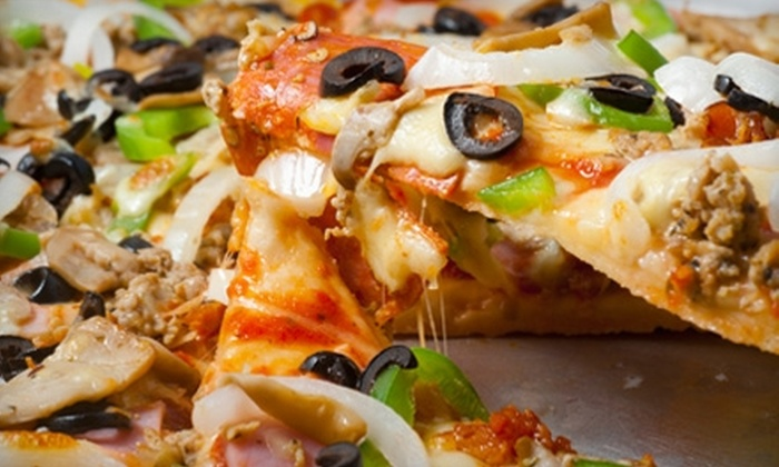 Sunny's Pizza - Hughson Heights: $8 for an Extra-Large Deep-Dish Pan Pizza at Sunny's Pizza in San Marcos ($15.95 Value)