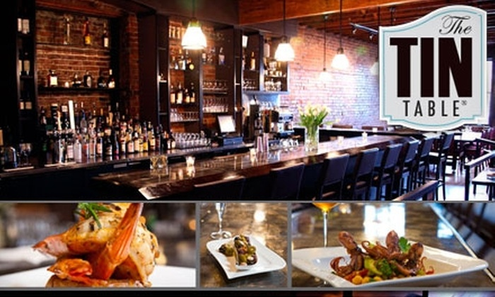 The Tin Table - Broadway: $20 for $40 Worth of Pub Fare and Pours at The Tin Table
