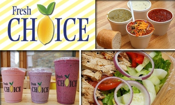Fresh Choice - Loop: $5 for $12 Worth of Smoothies and Healthy Fare at Fresh Choice Chicago