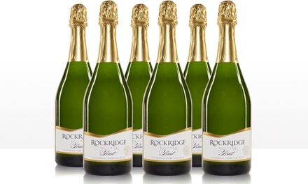 Rockridge Reserve NV California Brut Sparkling Sampler (6-Pack). Shipping Included.