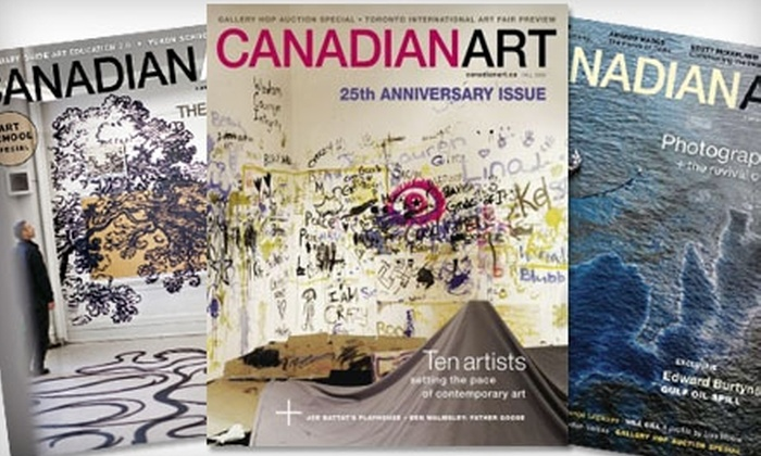 Canadian Art Magazine - Vancouver: $13 for Four Issues of Canadian Art Magazine ($26.88 Value)