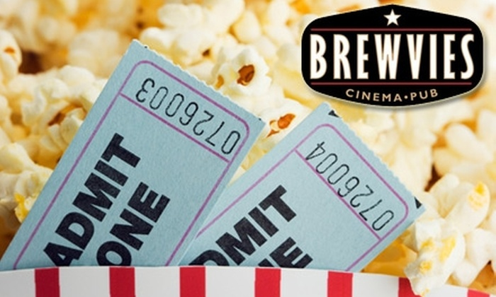 Brewvies Cinema Pub - Downtown Salt Lake City: $10 for Two Tickets, Two Drinks, and a Popcorn at Brewvies Cinema Pub (Up to $20 Value)