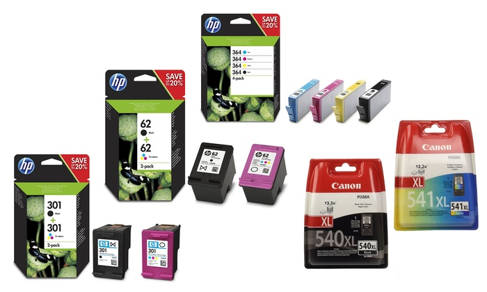 HP or Canon Original Cartridge With Free Delivery for £9.99