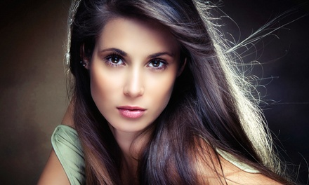 Haircut, Blow-Dry, and Color, or Keratin Treatment at Andrea's Organic Hair Studio & Day Spa (Up to 60% Off)
