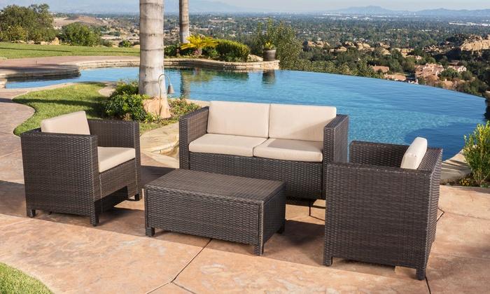 ... Venice Outdoor Wicker Sofa Set (4 Piece) ...