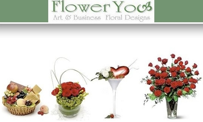 Flower You - New York City: $30 for $65 Worth of Flowers, Gift Baskets, Balloons, and More at Flower You
