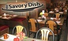 The Savory Dish- CLOSED - Fort Wayne: $7 for $14 Worth of Comfort Fare and Drinks at The Savory Dish