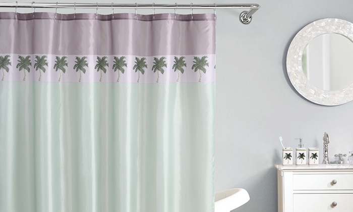 Shower-Curtain and Tumbler Bathroom Set (16-Piece) | Groupon