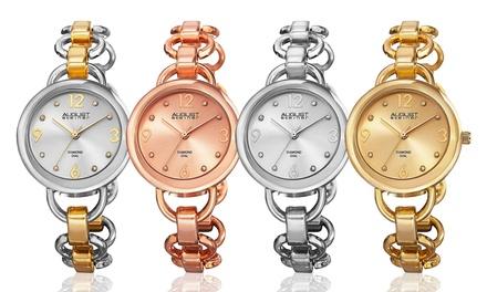 August Steiner Ladies' Chain-Link Swiss Watch