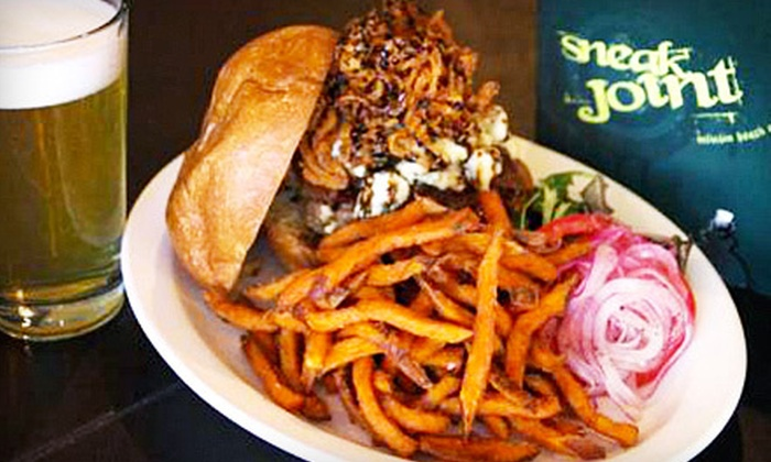 Sneak Joint - Mission Beach,Bay View Villas,Crown Point: Dinner for Two with Entrees and Drinks or $10 for $20 Worth of Upscale Bar Fare and Drinks at Sneak Joint