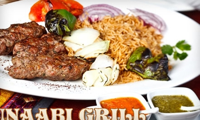 Unaabi Grill - Cary: $15 for $30 Worth of Middle Eastern Fare at Unaabi Grill